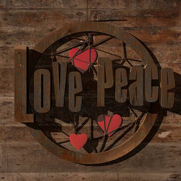 Love Peace van Turning Heads