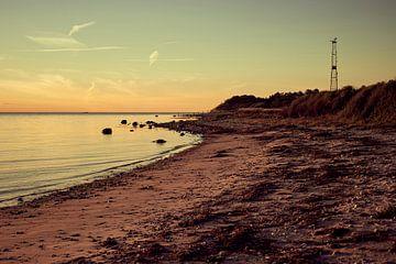 Abenddämmerung an einem Strand in Sjaelland in Dänemark