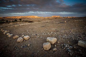 Abend über der Wüste in Israel von Herman IJssel BWPHOTO