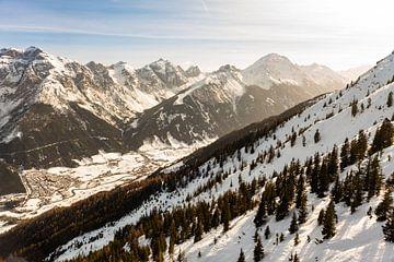 bergen, in de zon alpen