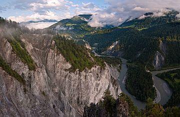 Das Rheintal in der Schweiz von Volker Banken
