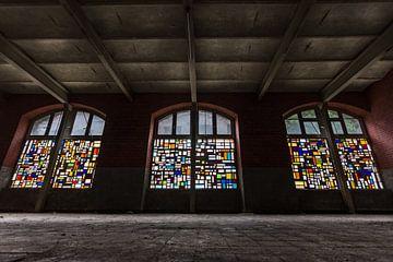 Glas in lood bij Kristalfabriek Val Saint-Lambert, Luik België von Stefan van der Wijst