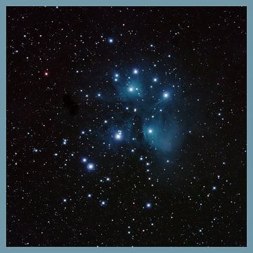 Amas d'étoiles des Pléiades sur Bob de Bruin