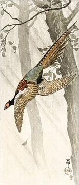 Vliegende fazant, Ohara Koson