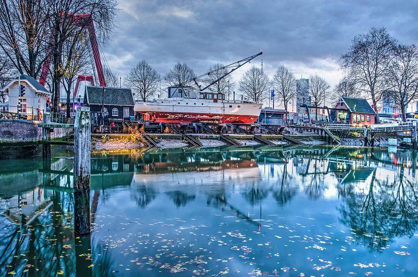 Scheepswerf Oude Haven Rotterdam van Frans Blok