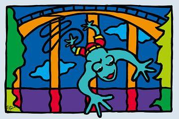 Bungee-Jumping frosch von ART Eva Maria