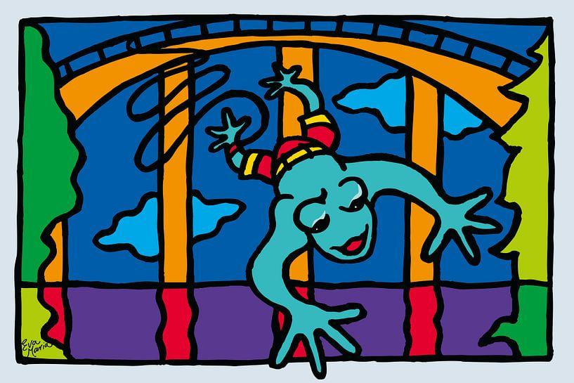Bungeejump kikker van ART Eva Maria