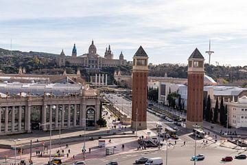 Zicht op het nationaal kunst museum van Catalunya van thomas van der Wijngaard