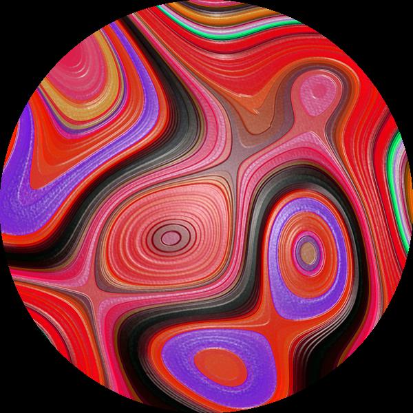 Colored Fractal 3 van Gerrit Zomerman