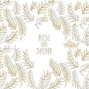 Grafische Kunst RISE & SHINE | goud en marmer