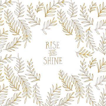 Graphic Art RISE & SHINE | gold & marble sur Melanie Viola