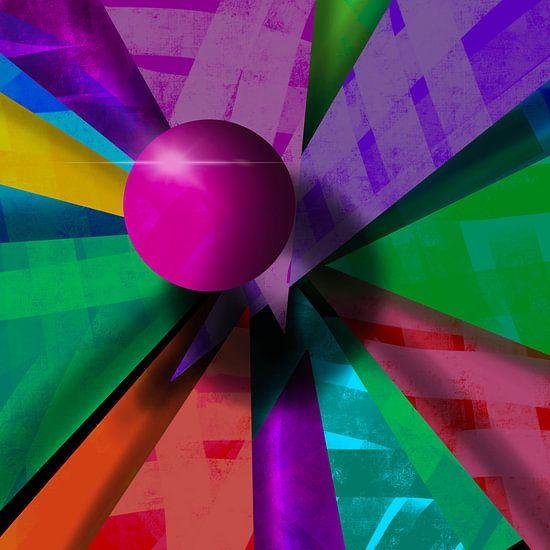 3D Rosa Kugel Abstrakt
