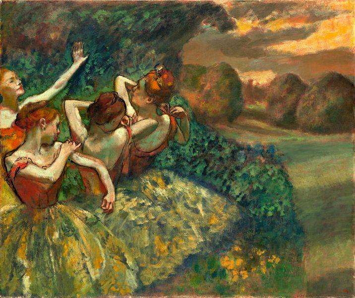 Vier Dansers, Edgar Degas van Liszt Collection
