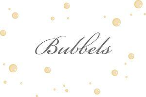 Bubbels op de muur
