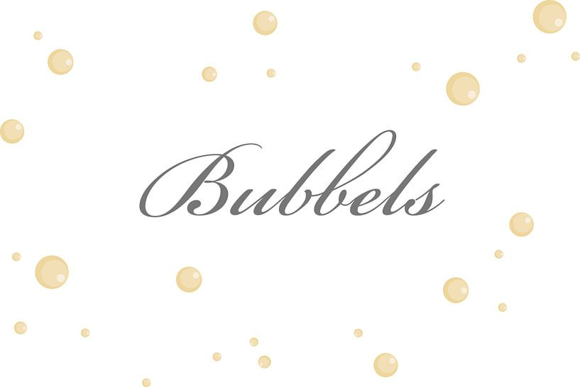 Bubbels op de muur van Ellen Voorn