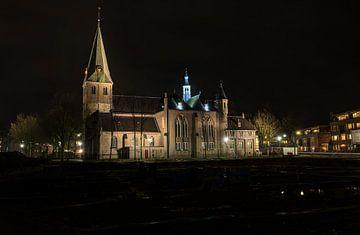 #Einzigartiges Abendfoto der Remigius-Kirche, Gemeinde Tauben von Fotografie Arthur van Leeuwen