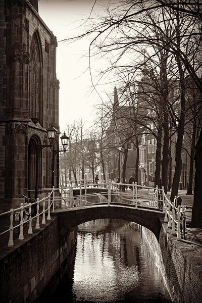 Oude Kerk Delft, Pays-Bas sur Marja van den Hurk