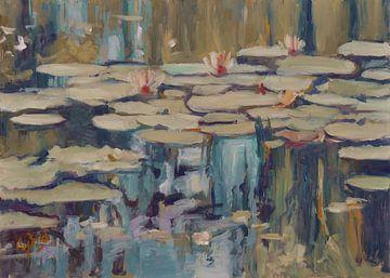 Waterlelies #012021 van Nop Briex