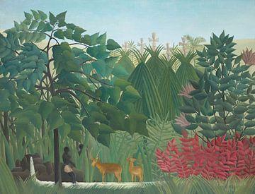 Der Wasserfall, Henri Rousseau