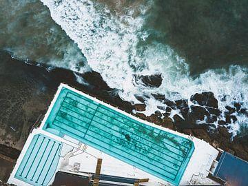 Fels- und Meeresbecken am Bondi Beach in Sydney, Australien von Michiel Dros