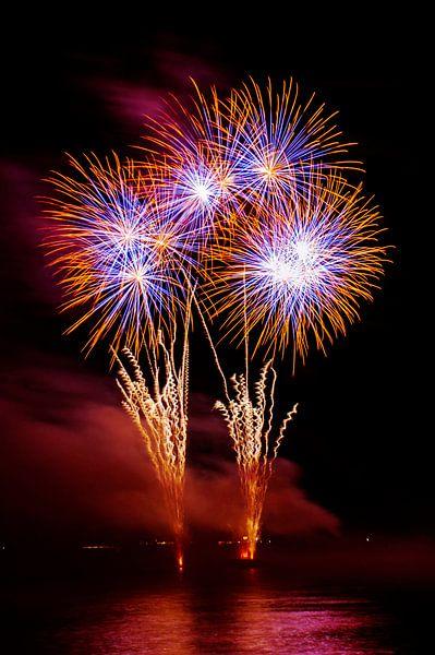 Vuurwerk op de Rijn van Fotografie Arthur van Leeuwen