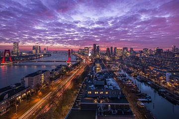 Het panoramisch uitzicht over Rotterdam van MS Fotografie | Marc van der Stelt