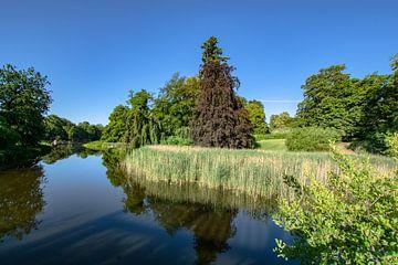 Zwanenvijver in Putbus kasteelpark van GH Foto & Artdesign