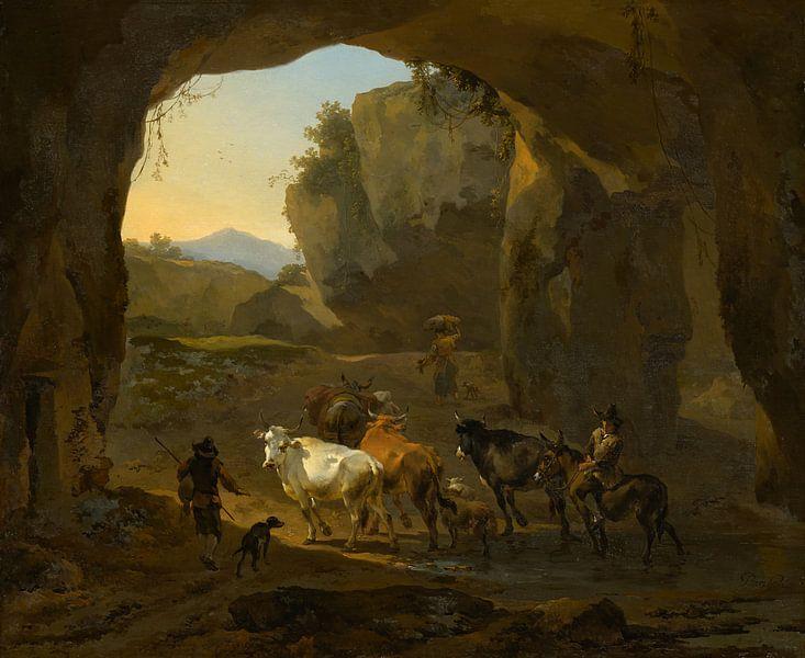 Cowherds in a Grotto, Nicolaes Berchem von Meesterlijcke Meesters