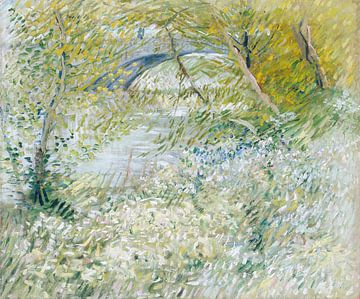 Oevers van de Seine met de Pont de Clichy in het voorjaar, Vincent van Gogh van