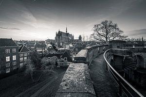 Uitzicht op Leiden van Martijn van der Nat