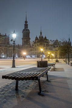 Winterse sfeer in Dresden van Sergej Nickel