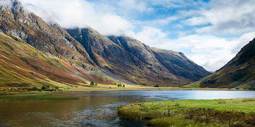 De pas van Glencoe in de Schotse highlands van