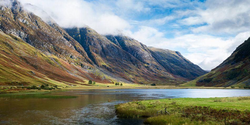 De pas van Glencoe in de Schotse highlands