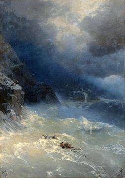 Hovhannes Aivazovsky, Sturm - 1899 von Atelier Liesjes