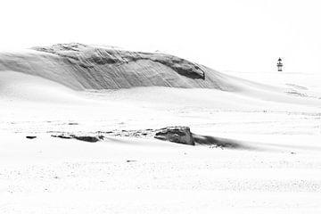 Leuchtturm von Ameland hinter den Dünen von Anja Brouwer Fotografie