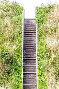 Steile trap van de Mozesbrug bij Fort de Roovere van Fotografie Jeronimo