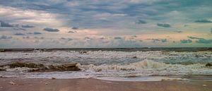 De zee aan het strand van Texel