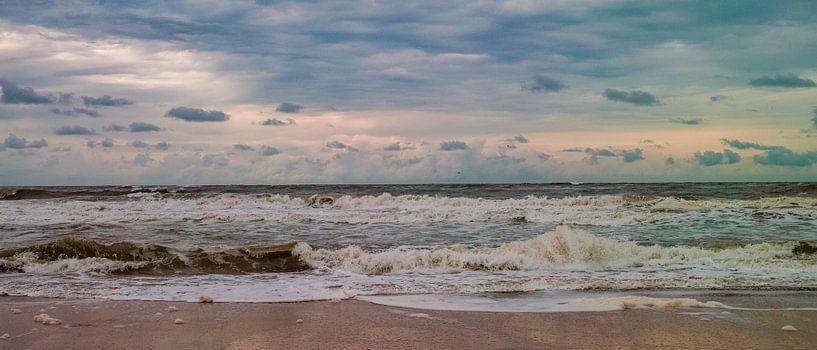 De zee aan het strand van Texel van Marc Wielaert