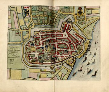 Tiel, Stadsplattegrond Joan Blaeu 1652 van Atelier Liesjes