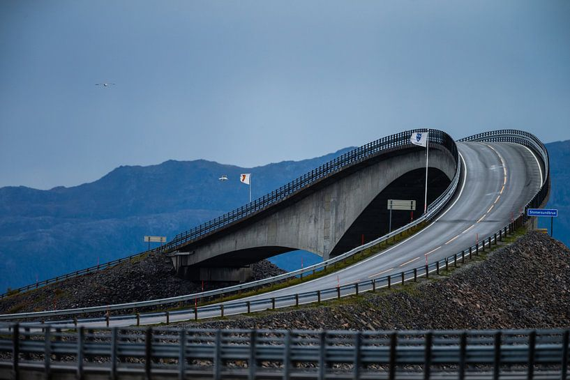 De Atlantic Road Noorwegen van Menno Schaefer