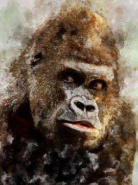 Gorilla von Printed Artings