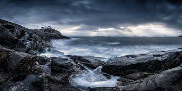 Landschap op de Lofoten in Noorwegen van Fine Art Fotografie