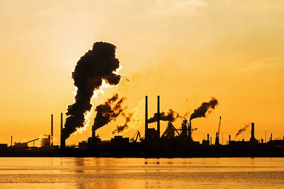 Industrie silhouet van Dennis van de Water