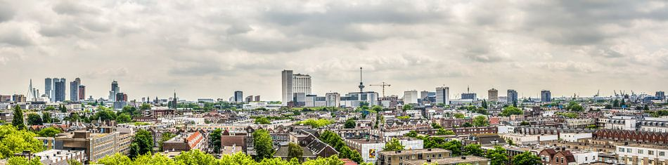 Skyline Rotterdam van Patrick Herzberg