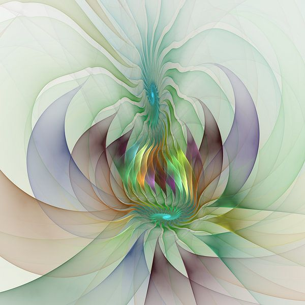 Colourful Shapes - Fractals Art van gabiw Art