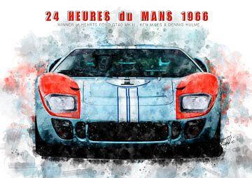 Ford GT40, Le Mans Sieger der Herzen 1966 von Theodor Decker