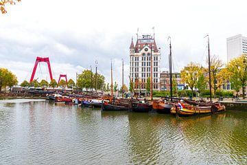 Blick auf die Willemsbrug Rotterdam von den Würfelhäusern aus. von Merijn Loch