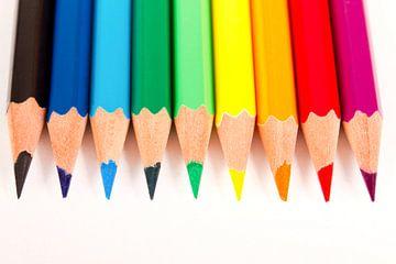 Regenboog van potloden van Kim Dalmeijer