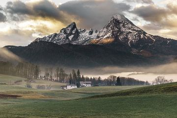 Het machtige Watzmann gebergte in het Berchtesgadener Land van road to aloha