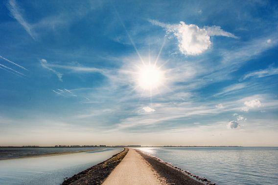 De pier van Paesens/Moddergat in de Waddenzee van Harrie Muis